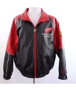 Vintage 97 NHL Detroit Red Wings Stanley Cup Champion Leather Jacket Men... - $290.24