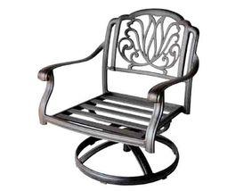 Fire Pit Table Set Elisabeth Propane 5pc Patio Furniture Outdoor Dining Aluminum image 5