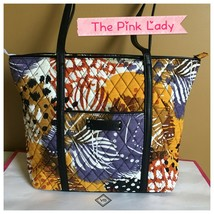 NWT Vera Bradley Painted Feather  Trimmed Tote Handbag  - $29.99