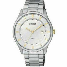 Citizen BD0041-54B Men's Silver Steel Bracelet with Analog Silver Dial Watch  - £76.46 GBP