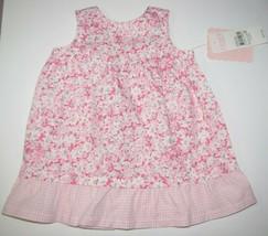 Baby Girl Chaps Ralph Lauren Floral/Gingham Easter Spring Summer Dress 3... - $19.79