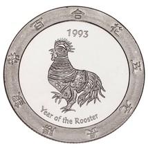 1993 Año Del Gallo .999 Plateado 1 Onza Gaming Redonda Alcachofa Joe's - $62.87