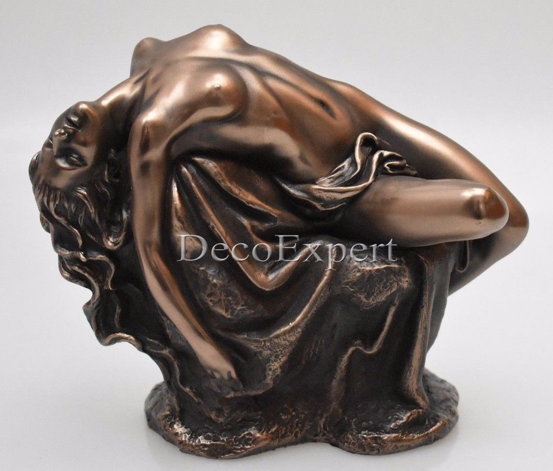 Temptress Lying On The Stone Act Bronze Sculpture * Free Shipping Everywhere *