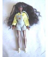 Vintage African American Mini Rubber Girl Doll  Long Hair - $19.99