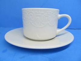Tabletops Unlimited Battenburg Lace Saucer & Cup Bundle of 7 Sets - $57.82