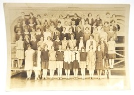 """1928 Antique Photo """"Glee Club"""" Signed w/ Students from Classes 1928-1932 7"""" - $9.99"""