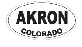 Akron Colorado Oval Bumper Sticker D7136 Euro Oval - $1.39+