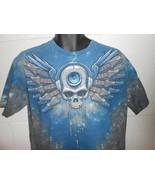 Vintage Skull Rock Guitar Tye Die T-Shirt Large - $14.99
