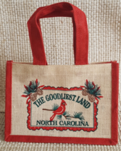 """Gift/Tote Bag North Carolina The Goodliest Land Burlap Small Approx. 10""""... - $5.75"""