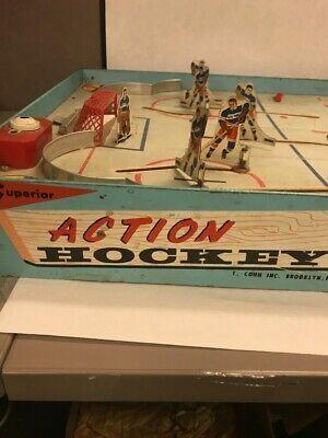Vintage NHL Superior Action Hockey Table Game Toy Cohn Blackhawks Rangers image 2