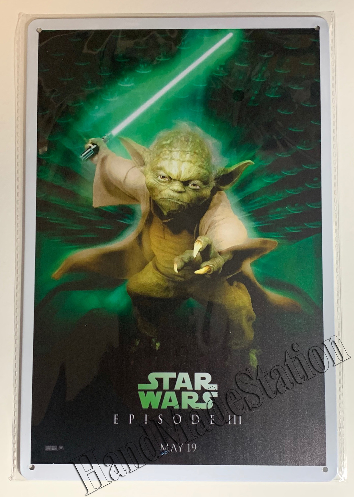 "Star Wars Yoda Episode III Wall Metal Sign plate Home decor 11.75"" x 7.8"""