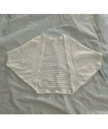 Cat & Jack Girl's Size M(7/8) Eyelet Ribbed Fresh White Open Shrug Cardi... - $28.83