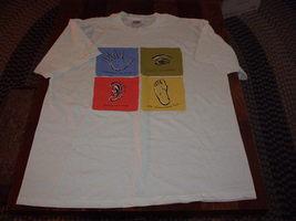 "The Washington Post Men T-Shirt With Art Print ""Hands, Ears, Eyes & Feet"" (Xl) - $18.00"