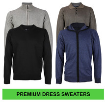 E-38 Italy Men's Slim Fit Luxury Wool Zip Up Pullover Hoodie Cardigan Sweater