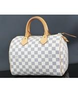 Authentic LOUIS VUITTON Speedy 25 Damier Azur Boston Hand Bag Purse #33078 - $659.00