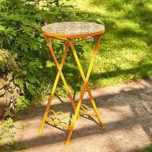 Zaer Ltd. Mosaic Tile Furniture (Small Accent Table, Los Angeles Yellow) - $89.95