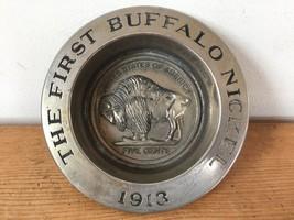 Vtg Avon First Buffalo Nickel 1913 Commemorative Trinket Bowl Dish Ashtr... - $15.19