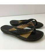 BORN Leather Thong Slides W61223 Womens Size 7 - $47.18