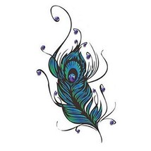 2 Pcs Concealer Stickers Feathers Fake Body Tattoos Fashion Temporary Tattoos