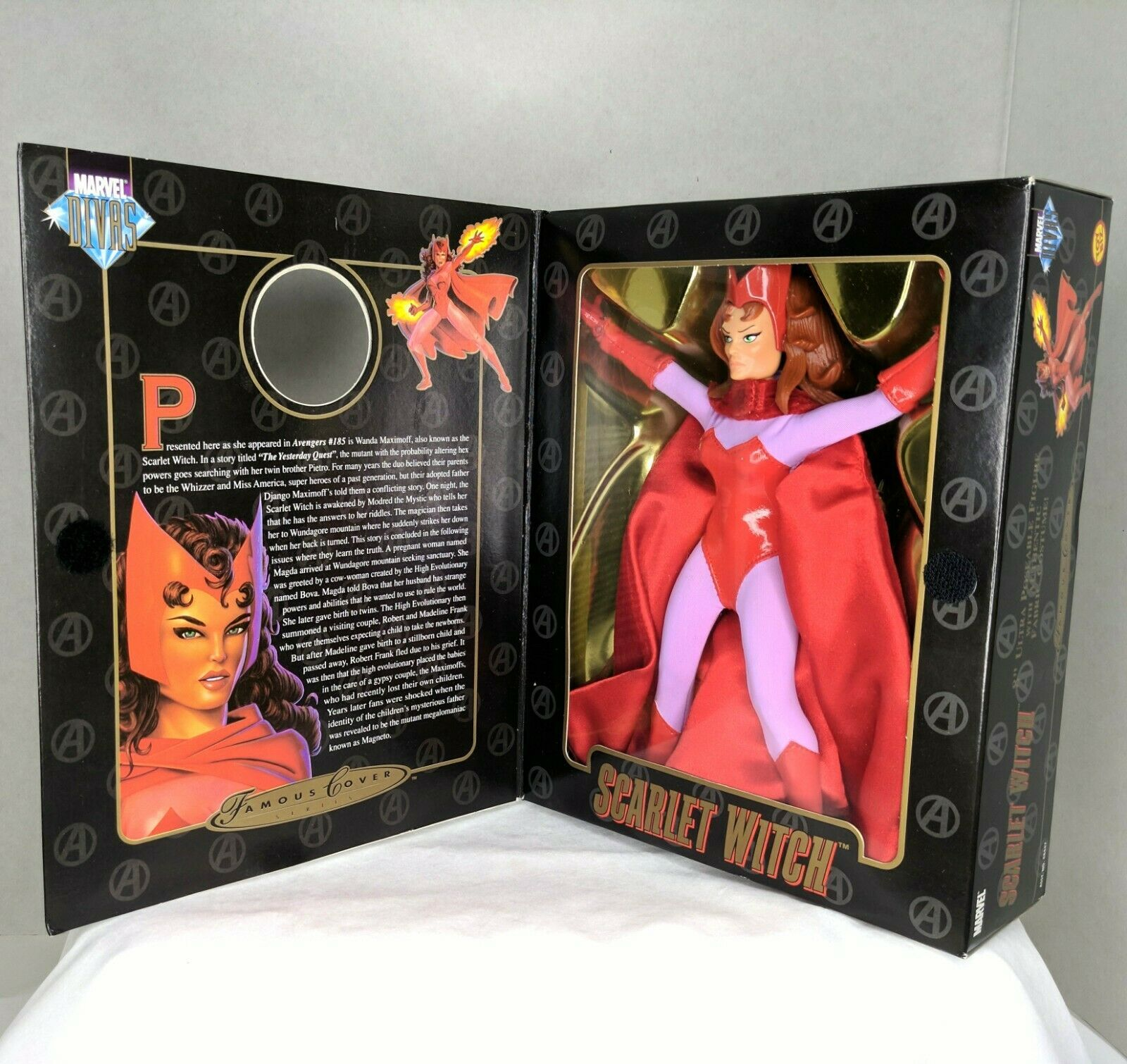 """Marvel Famous Cover Series 8"""" Ultra Poseable 2000 The Scarlet Witch #48449 NIP image 2"""