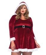 Christmas Mrs. Santa Claus Velvet Red Hooded Dress - PLUS SIZE Leg Avenue - $49.99