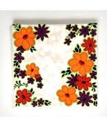 Villeroy & Boch Trivet Tile Gold Tone Holder Floral Vintage Flower - $14.84
