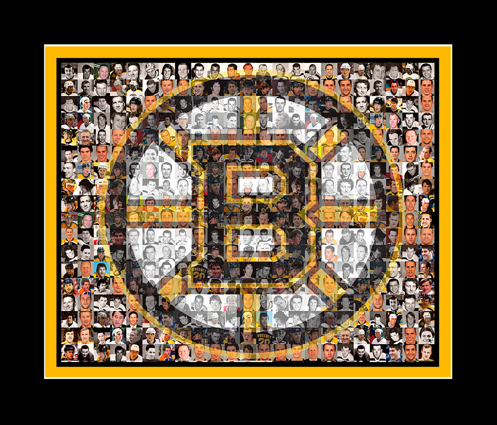 "Boston Sports Mosaic Print Art using Player Photos from four teams-8x10"" Matted"