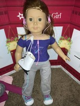Retired American Girl Doll of the Year Mia 2008 with Ice Skating outfit AG GOTY - $148.49