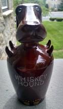 Vintage Whiskey Hound Decanter  Long Earred Dog Dachshund Bar Jug   - $14.99