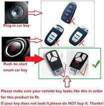 M.JVisun Soft Silicone Rubber Carbon Fiber Texture Cover Protector for Audi, Car image 2