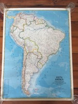 Vintage 1983 National Geographic Society South America Political Referen... - $39.99