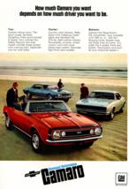 1967 Camaro Intro Ad b3 Tin Sign Poster | 8x12 Inch - $31.67