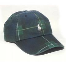 28764907b0deac POLO Ralph Lauren Men Baseball Cap Adjustable Green Plaid Pattern Cotton...  - $38.75