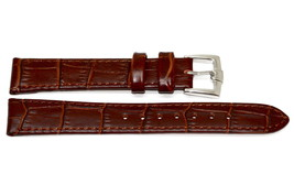 16MM Dark Brown Alligator Grain Gorgeous Leather Watch Band Strap Fit Swiss Army - $17.33