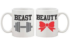 Beauty and the Beast Matching His and Hers Couple Coffee Mugs (MC040) - $24.99