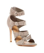 New SCHUTZ 10 caged heels sandals shoes suede stilettos zipper side bows... - $193.99