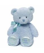 """Baby Gund My First Teddy Bear Stuffed Animal Plush Blue 15"""" New Free Shi... - $19.79"""
