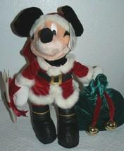 Walt Disney World Mickey Mouse Santa Claus Jingle Bells Naughty Nice Plu... - $16.34