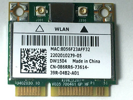 Dell Latitude E5530 E6430 ATG DW1504 Wireless Half-Height Mini Card (A01... - $7.90