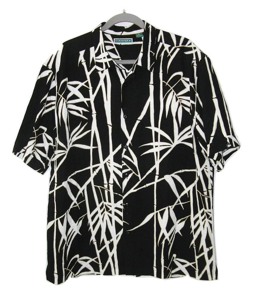 175af8cc6 Img 4837678803 1505177699. Img 4837678803 1505177699. Previous. Cubavera  Hawaiian Shirt Bamboo Black White ...