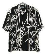 Cubavera Hawaiian Shirt Bamboo Black White Rayon XL - $14.00