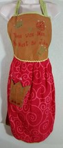 Christmas Retro Style Woman Apron Three Wise Men Must Be Kidding NWOT Red - $19.99