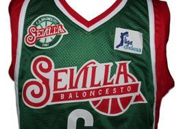 Kristaps Porzingis #6 Sevilla Baloncesto Basketball Jersey New Green Any Size image 4