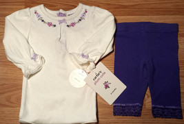 Girl's Size 6 M 3-6 Months 2P Carter's Cream Floral NWT Top, Purple Lace... - $14.00