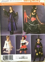 Simplicity 2502 Misses' Pirate, Gypsy, ETC Costumes  Size U5 (16-24) - $6.99