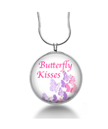 Butterfly Kisses necklace for her - song jewelry - wedding gifts- handmade - $18.32