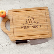 Engraved Large Family Cutting Board-Bamboo Cutting Board-Personalized Cu... - $36.95