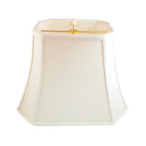 Royal Designs Rectangle Cut Corner Lamp Shade - White - (7 x 9) x (10.25... - $73.95