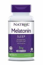 Natrol Melatonina 5MG Tiempo Liberación sin Medicamentos Sleep Ayuda & P... - $9.37