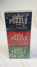 New Professor FESTIVE 3-Pack Wooden Puzzle Game Holiday Tangram Star Sno... - $12.95